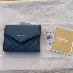 Michael Kors Blakely Small Quilted Leather Wallet.